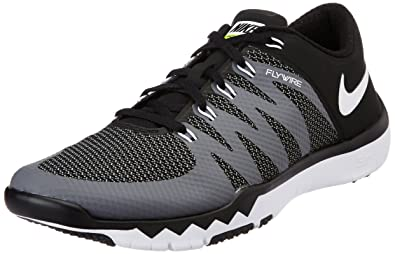 d5c84fe7aa33e Nike Men s Free Trainer 5.0 V6 Training Shoe Black Dark Grey Volt White