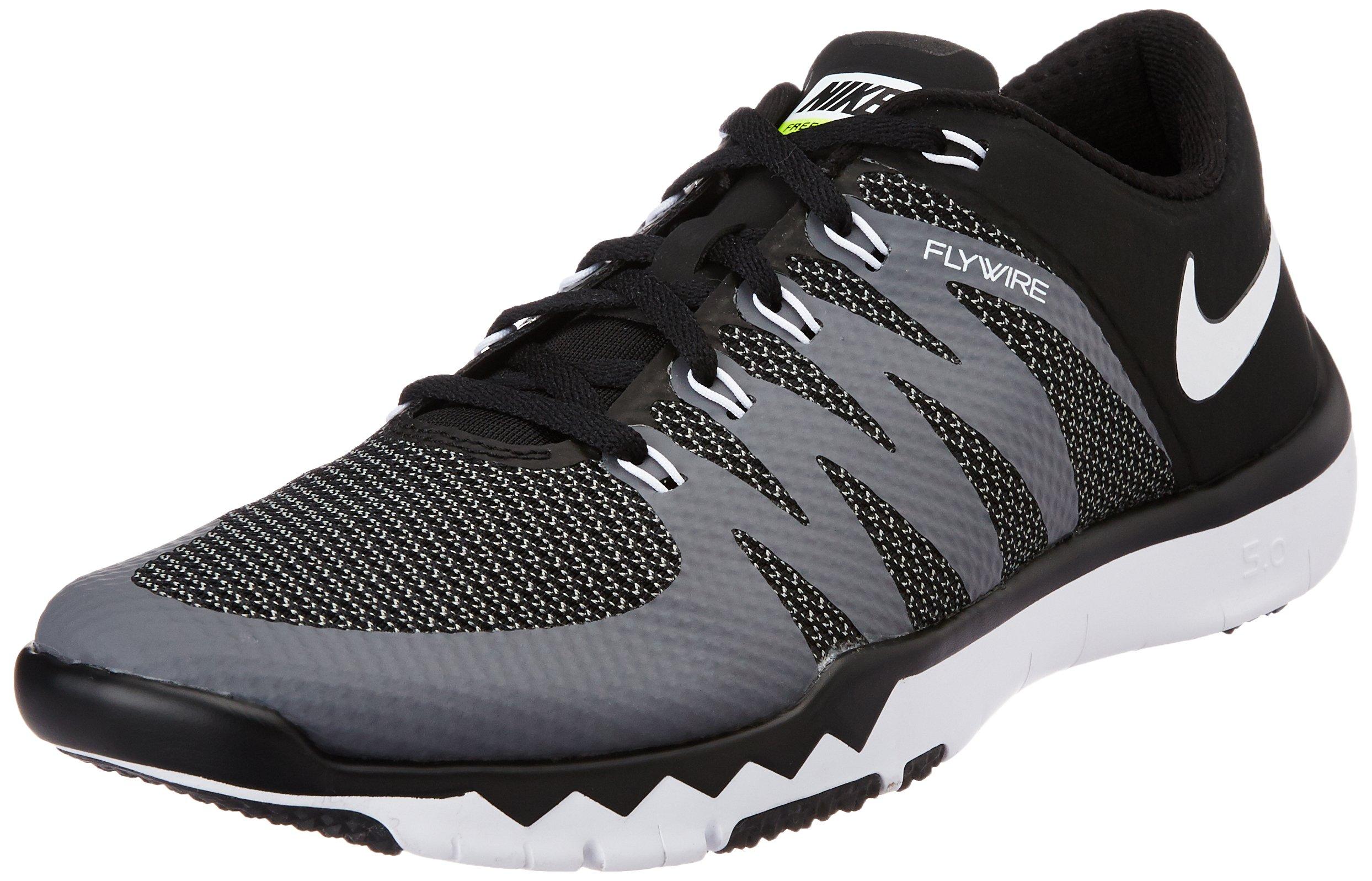 new product b81e6 d14fc Galleon - Nike Men s Free Trainer 5.0 V6 Training Shoe Black Dark Grey Volt White  Size 8 M US