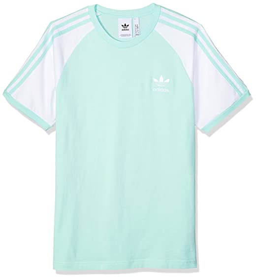 adidas Originals Men's 3-Stripes Tee, Clear Mint, XS: Amazon ...