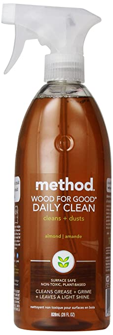 Method Naturally Derived Wood for Good Daily Cleaner Spray, Almond, 28 Ounce