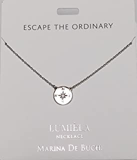 LEAH Named Lumeila Necklace Marina De Buchi Silver Colour Presented By Sterling Effectz