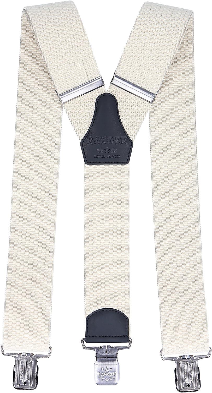 Ranger Mens Braces Y Shape Suspenders Heavy duty Dyk50 B