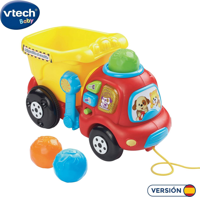 VTech- Miguelón Remolque Camión Interactivo con luz y Sonido, 22.9 x 21.6 x 17.8 (3480-166522)