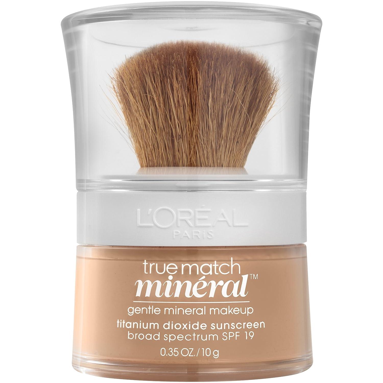 Amazon.com: L'Oréal Paris True Match Loose Powder Mineral Foundation, Natural Buff, 0.35 oz.: Beauty