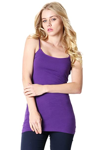 45f0965dfeb3c Image Unavailable. Image not available for. Color  ZENANA OUTFITTERS BASIC  LONGLINE CAMI