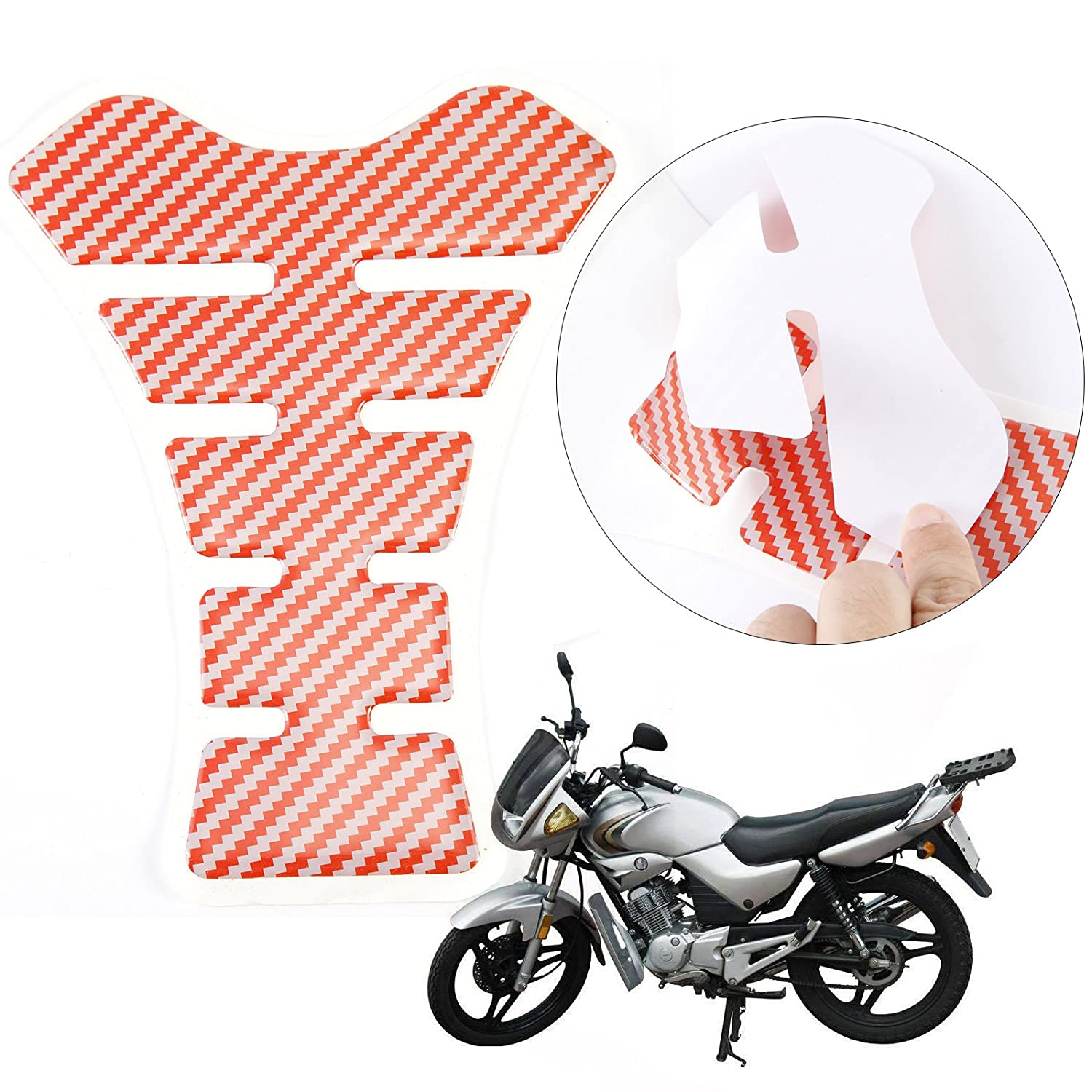 White Universal Motorcycle Fuel Tank Pad Gas Protector Motorbike Tankpad NON Scratch Sticker