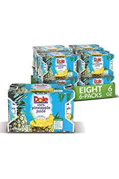 Dole 6 Oz, 48 Cans 100% Pineapple Juice