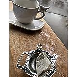Crosby & Taylor Teapot Shaped Pewter Teabag Holder