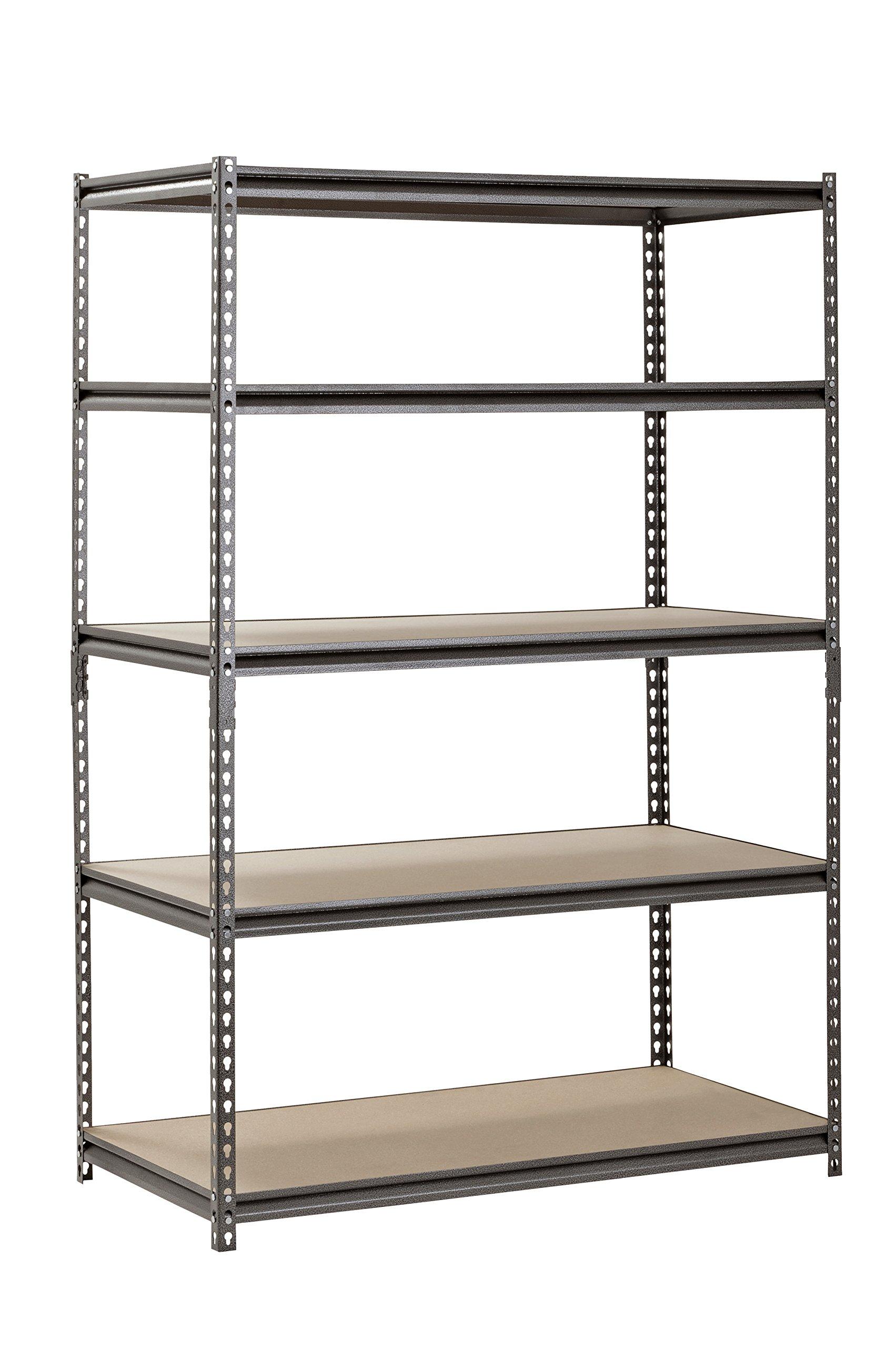 Muscle Rack UR482472PB5PAZ-SV Silver Vein Steel Storage Rack, 5 Adjustable Shelves, 4000 lb. Capacity, 72'' Height x 48'' Width x 24'' Depth
