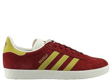 Hombre Adidas Gazelle Originals Borgoña Rojo casual