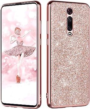 BENTOBEN Funda Xiaomi Mi 9T/Xiaomi 9T Pro Purpurina Carcasa Ultra ...