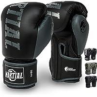 Martial Guantes de Boxeo Hechos del Mejor Material para Larga Durabilidad – Guantes de Kick Boxing, Guantes de Artes…