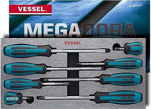 VESSEL No.9006CS MEGADORA Screwdriver 6pcs Set
