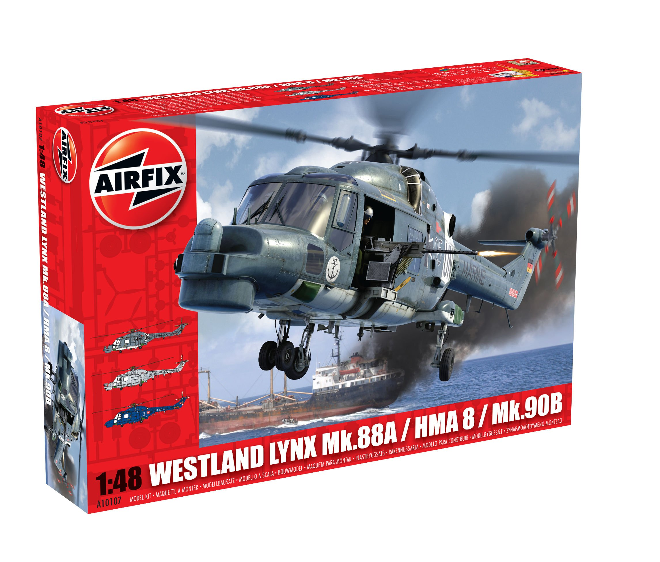 Airfix A10107 Westland Lynx Navy HMA8/Super Model Building Kit, 1:48 Scale
