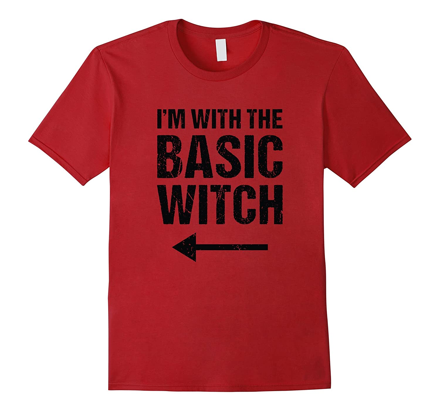 Halloween Couples Costume Shirt I'm With The Basic Witch-FL