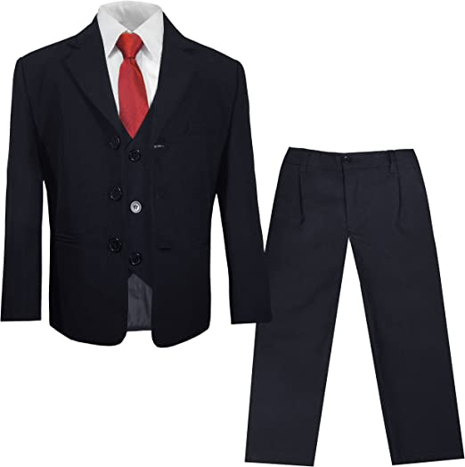 5tlg Kinderanzug,Kommunionsanzug,Anzug grau mit Nadelstreifen Größe 110//116