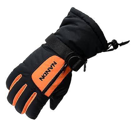 Arcweg Skihandschuhe Herren Kinder ab 5 Jahre Damen Snowboard Handschuhe Wasserdicht Winter Extrem Warm Atmungsaktiv Futter L