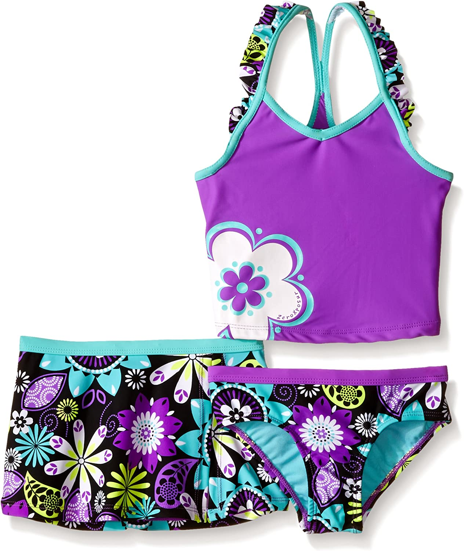 ZeroXposur Big Girls Abstract Print Tankini Swimsuit Set 2 Piece