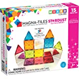 Magna-Tiles Stardust Set, The Original, Award-Winning Magnetic Building Tiles, Creativity & Educational, Stem Approved, Glitter & Mirrors