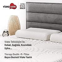 Visko Love Therapy Double L Pillow/Visko Love Boyun Destekli Visko Yastık