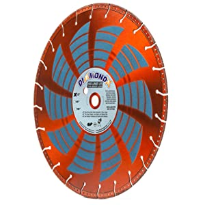 """Heavy Duty 12-Inch by 1-Inch Metal Cutting Rescue Diamond Blade with Diamond Side Coating for Power Hand-Held Power Saws & Chop Saws (12"""" X .125 X 1""""-20MM Bushing)"""