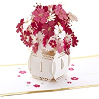 Hallmark Signature Paper Wonder Pop Up Card, Happy Thoughts Bouquet (Thinking of You Card or Birthday Card)