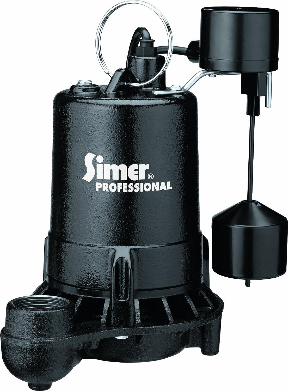 Simer 5955 1/2 HP Professional Grade Sump Pump