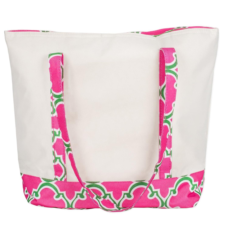 おすすめ 大きなキャンバス16 ピンク x 14断熱クーラーランチトートwith 10インチドロップハンドル 16 x 14 16 inches ピンク Quatrefoil B06Y5X8Z3L Pink Quatrefoil, ヤナイヅマチ:78e3bc17 --- 4x4.lt