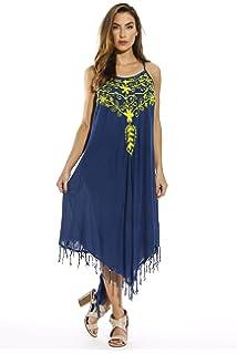 59a4a5e9714 Riviera Sun Fringe Dress Sundresses for Women at Amazon Women s ...