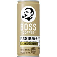 BOSS Coffee by Suntory Japanese Flash Brew Coffee with Milk 8oz 12 Pack Au Lait...