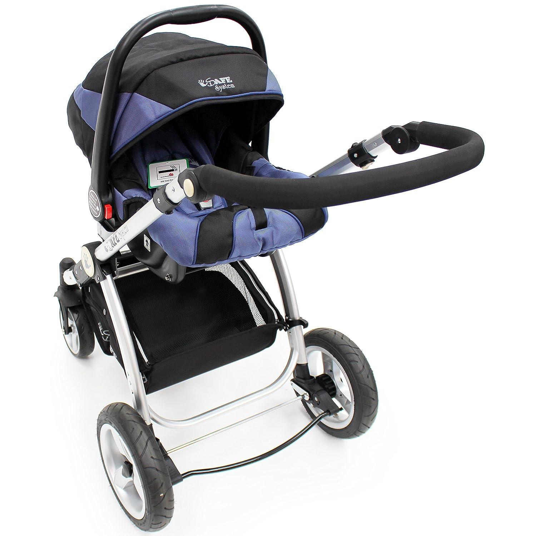 Navy Trio Travel System Pram & Luxury Stroller 3 in 1 2