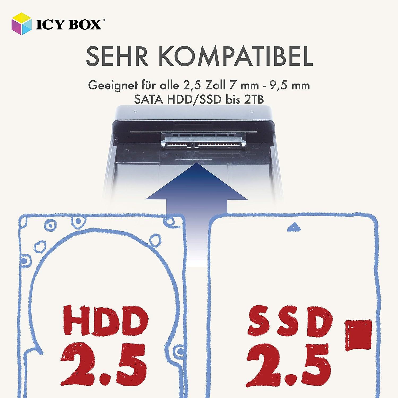 ICY BOX - Carcasa para Disco Duro Externo (2,5