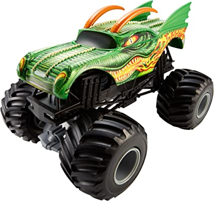 Amazon Com Hot Wheels Monster Jam 1 24 Scale Dragon Vehicle Toys Games