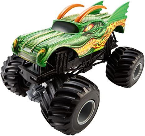 Amazon Com Hot Wheels Monster Jam 1 24 Scale Dragon Vehicle Toys