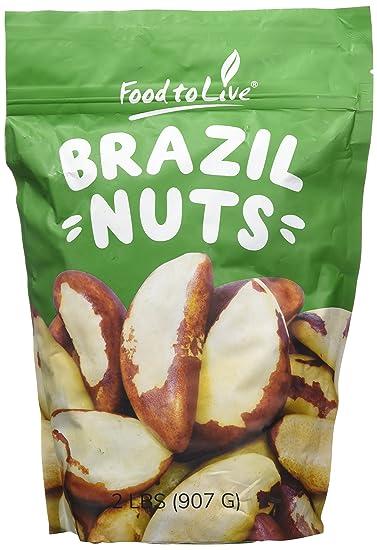 Food to Live Las nueces crudas de Brasil (enteras, sin cáscara, sin sal