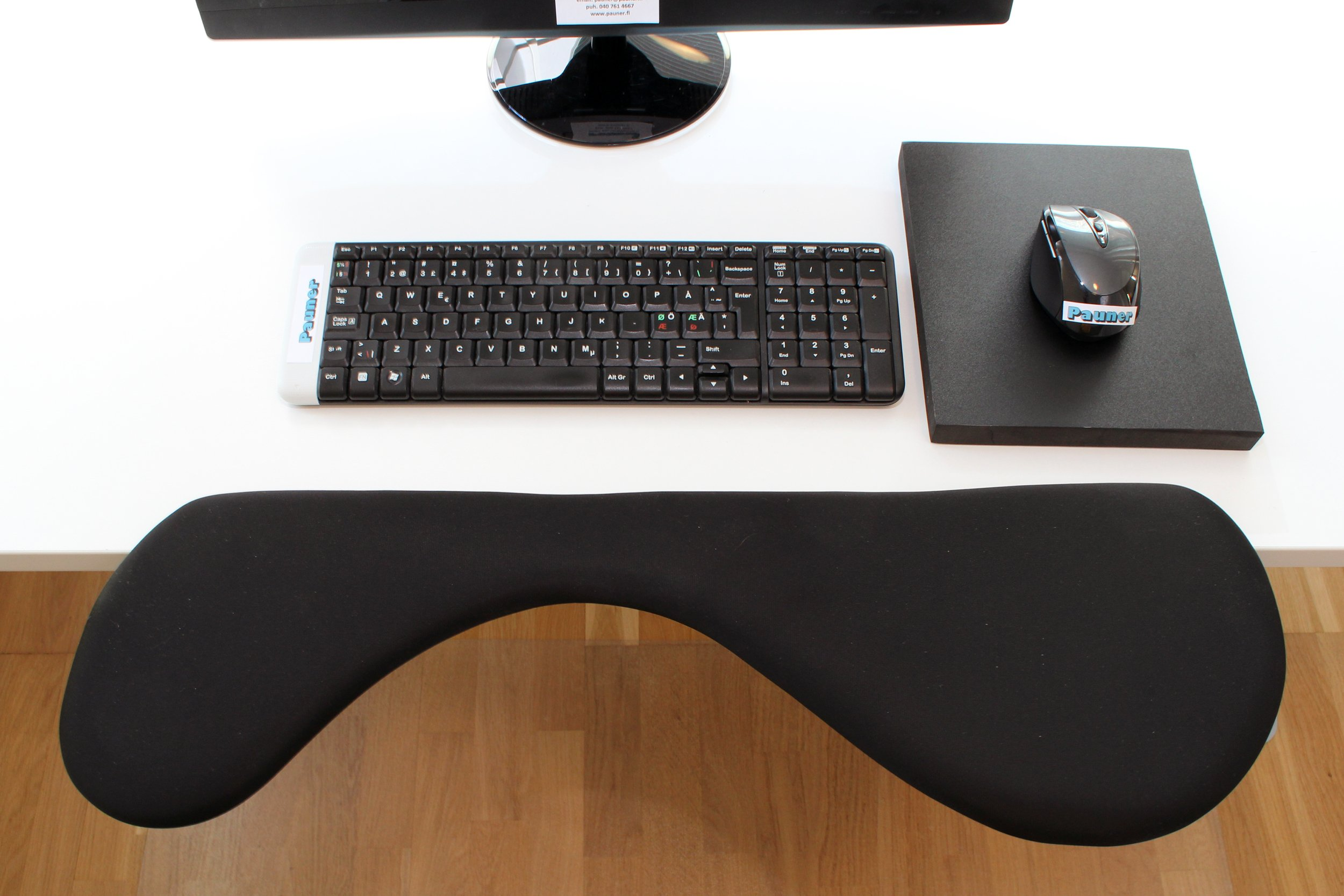 Pauner Forearm Support Better Than Normal Keyboard Wrist Rest - Works Well with Ergonomic Mouse by Pauner