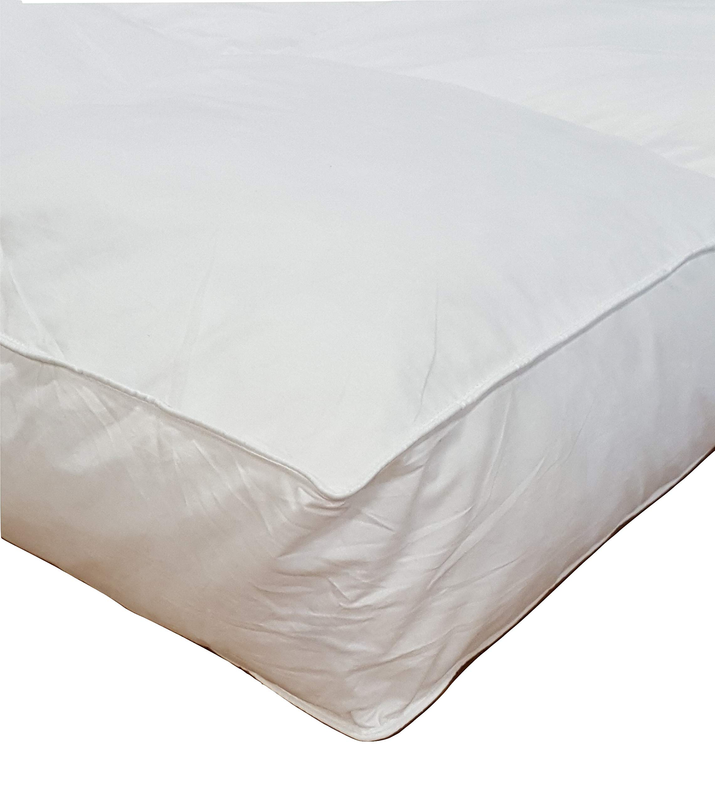 Millsave Premium Hotel Quality 5'' Queen (60'' x 80'') White Goose Down & Feather Mattress Topper Featherbed/Feather Bed, Baffled with High 21 lb. Fill Weight by Millsave
