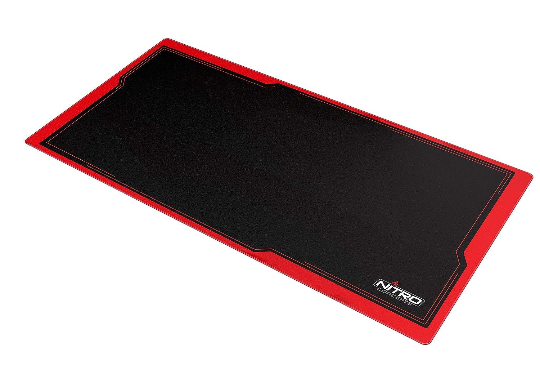 Tapis de Souris 1200x600mm Noir//Rouge NITRO CONCEPTS DM12 Deskmat Desk Pad