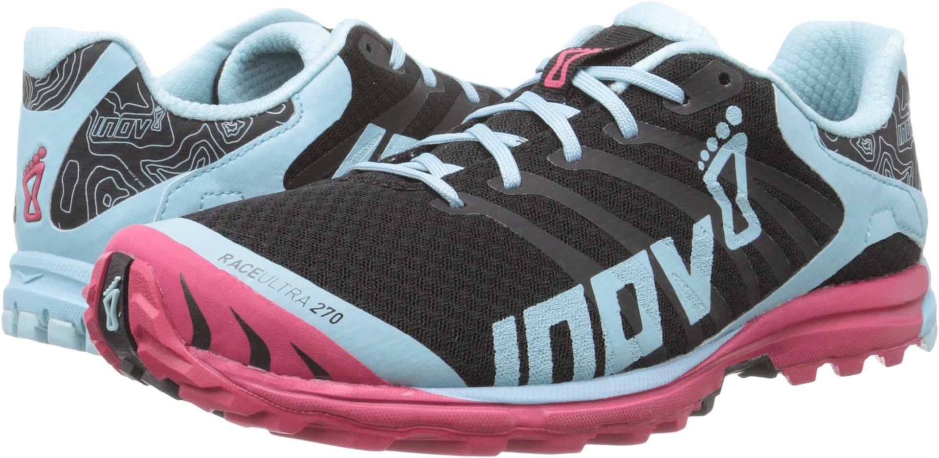 Inov-8 Women's Race Ultra 270 Trail Running Shoe, Black/Blue/Berry, 10.5 B US