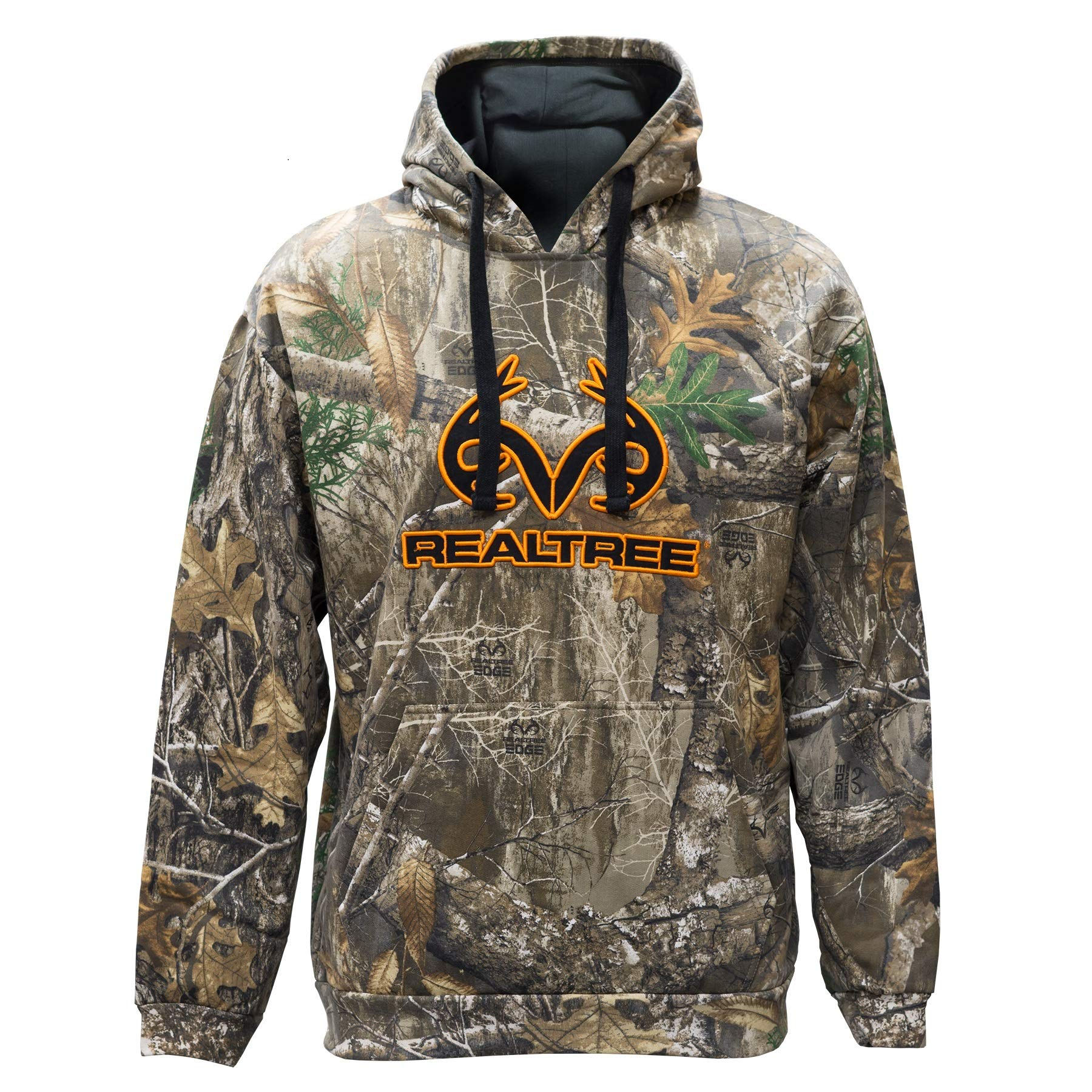 Staghorn Realtree Men's Camo Applique Hoodie, Edge, Large