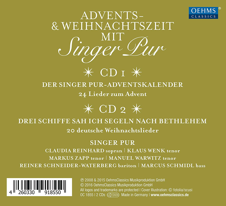Advents- & Weihnachtszeit mit Singer Pur - Singer Pur, Verschiedene ...