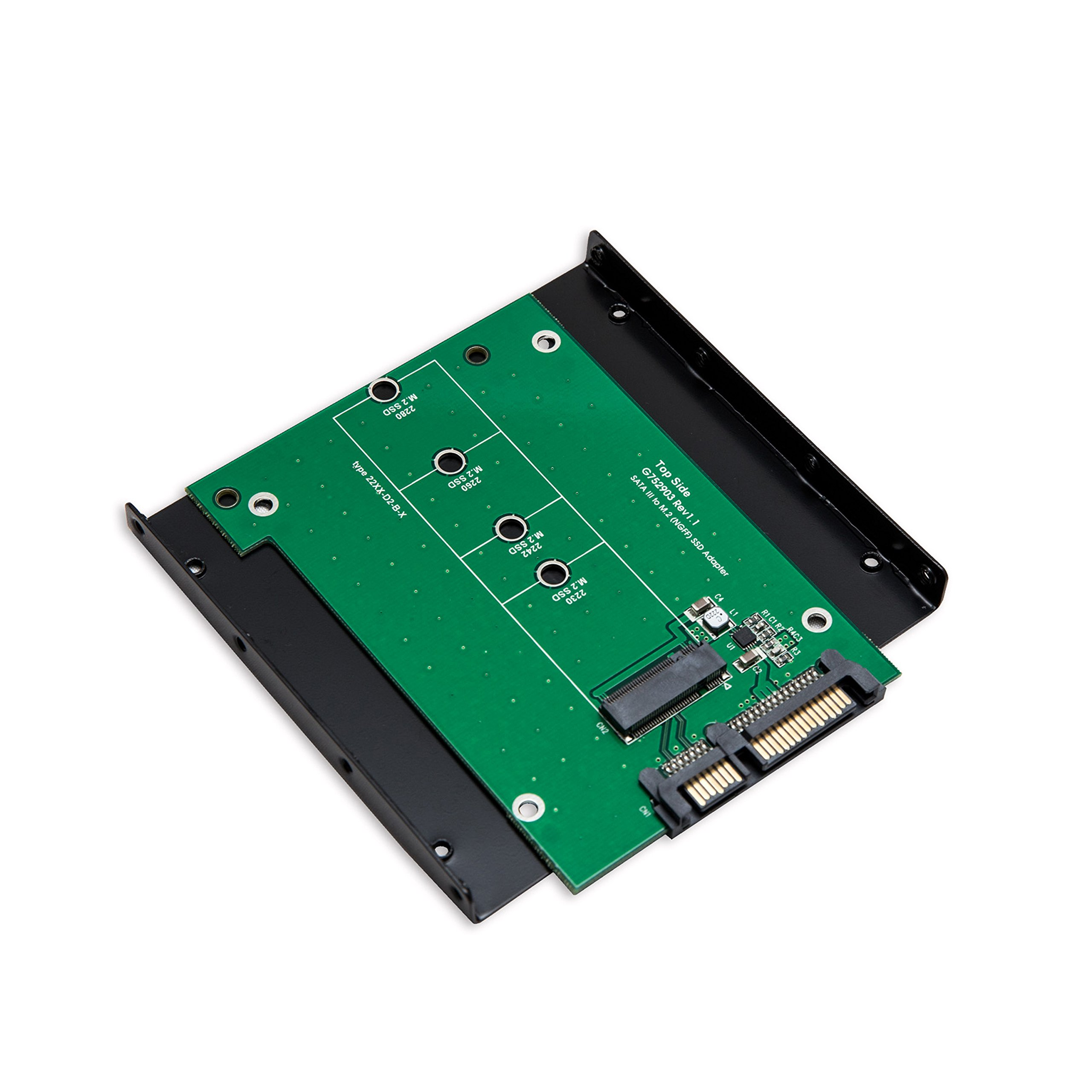 Syba SY-ADA40086 M.2 NGFF SSD to High Speed SATA III 6GB/s Board Adapter with 3.5'' Drive Bracket by Syba
