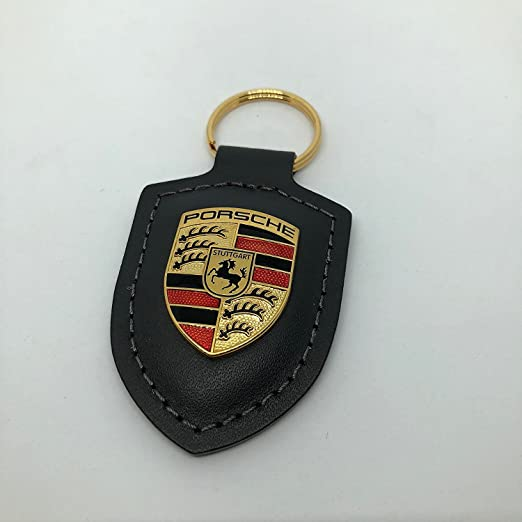 Amazon.fr   Original Porsche Porte-Clés Cuir Gris avec Armoiries Logo en  Métal, WAP0500900E 71709e2c092