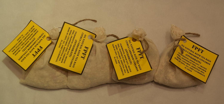 Amazon.com : Bath Salts Tea Bags by FPFT | All Natural Bath Salts ...