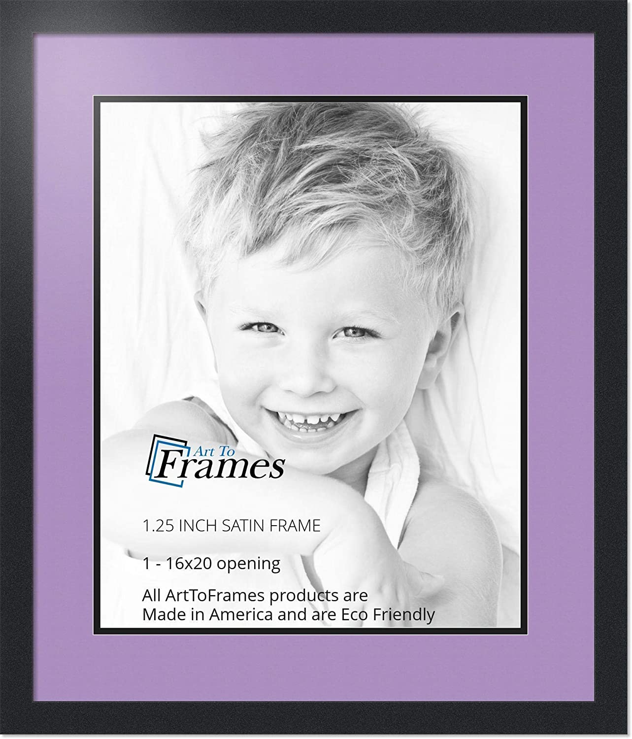 Art to Frames Double-Multimat-651-805//89-FRBW26079 Collage Photo Frame Double Mat with 1-16x20 Openings and Satin Black Frame