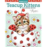 Teacup Kittens Coloring Book (Design Originals) 32 Adorable Expressive-Eyed Cat Designs from Illustrator Kayomi Harai on High