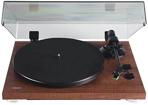 Teac TN-300SE-WA Analog Belt Drive Turntable, Walnut