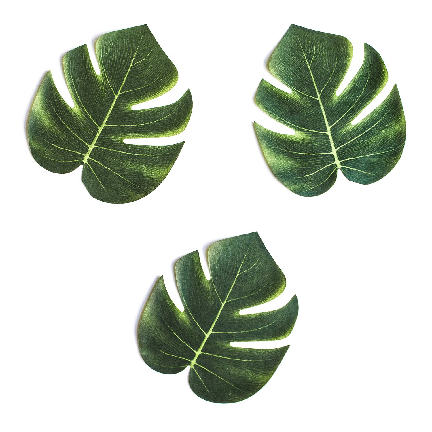 "Super Z Outlet Tropical Imitation Plant Leaves 8"" Hawaiian Luau Party Jungle Beach Theme Decorations for Birthdays, Prom, Events (12 Pack)"