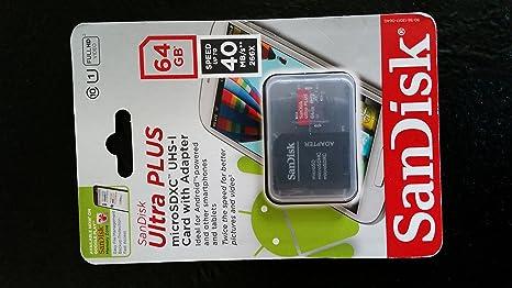 Amazon Com Sandisk Ultra Plus 64gb Microsd Card Mobile Class 10 Computers Accessories