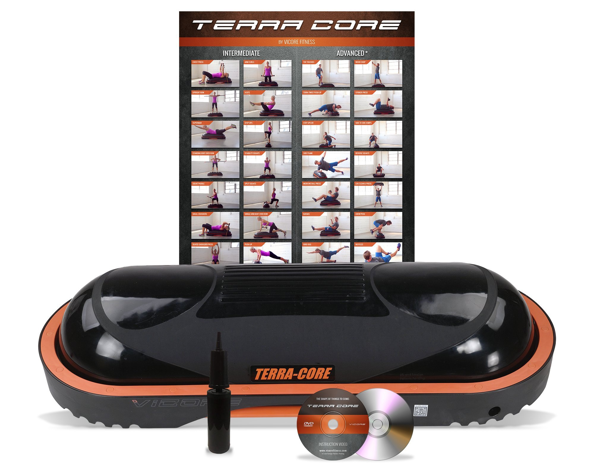 Terra Core Balance Trainer, Stability, Agility, Strength, Functional Fitness, Core Exercises, Abs Workout, Pushups, Weight Bench. by Vicore Fitness (Image #2)
